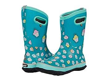 Bogs Classic High Waterproof Insulated Rubber Neoprene Rain Boot Cupcakes-Teal 3 US Unisex Little Kid