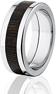 New Wenge Wood Rings, Exotic Hard Wood Wedding Band w/ Comfort Fit