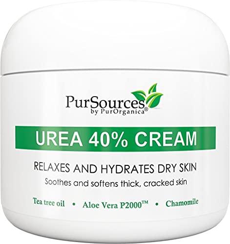 PurOrganica Urea 40 Percent Foot Cream - With Pumice Stone and Brush - Callus Remover - Moisturizes &...
