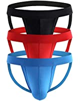 Pdbokew Men's Athlelic Supporter Performance Jockstrap Underwear Sports Briefs 3-Pack XXL