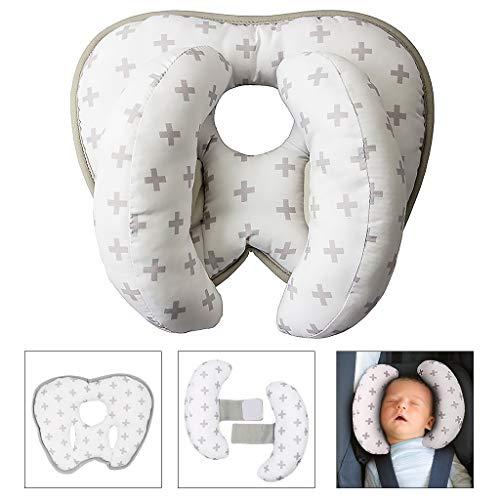Almohada de viaje ajustable para bebé para silla de paseo o cama,...