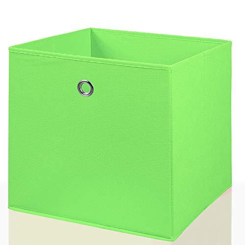 Mixibaby Faltbox Faltkiste Regalkorb Regalkiste Regalbox Aufbewahrungsbox Spielkiste Staubox Korb, Farbe:grün 26 * 26