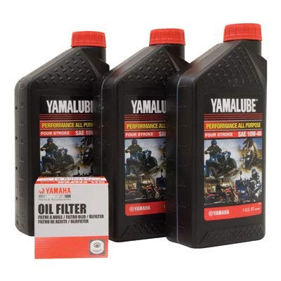 Yamalube Oil Change Kit 10W-40 - Fits: Yamaha V-Star Deluxe XVS1300 2013-2017