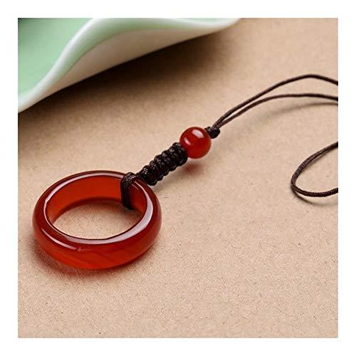 FKJSP Llavero Simple Pulsera de ágata del Jade Chino Collar (Color : 2)