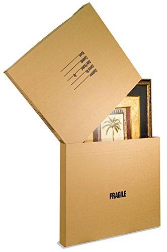 EcoBox Adjustable Picture/Mirror Box, Moving Box Set of 5 (V-9682)