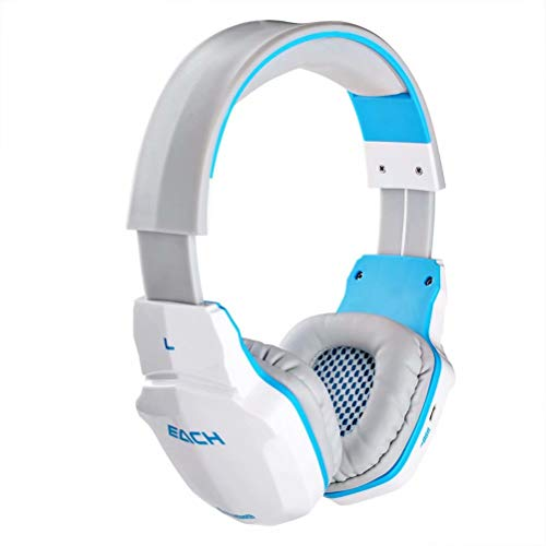 CSZH Wireless Bluetooth Headset Stereo Gaming Kopfhörer Headset mit Mikrofon für iPhone6 Samsung Smartphone (weiß)