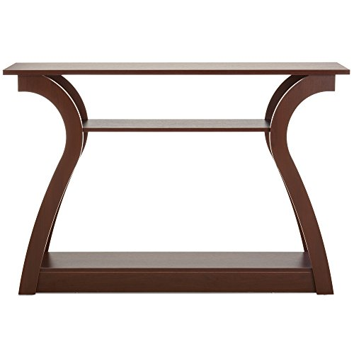 Best Choice Products 47in 3-Shelf Modern Decorative Console Accent Table Furniture for Entryway, Living Room, Brown