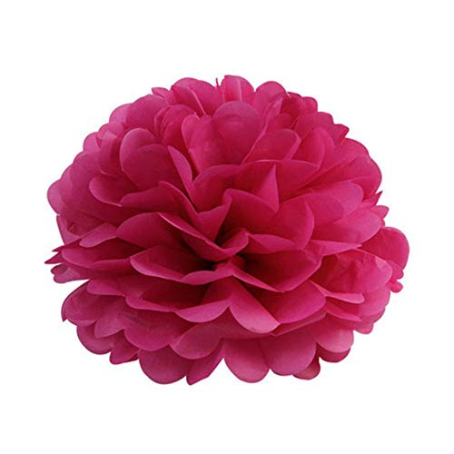 5st 6 '' - 12 '' tissuepapier pompoms bruiloft decoratieve papieren bloemen bal baby shower verjaardagsfeestje decoratie papier pom poms, fuchsia, 15cm 6inch