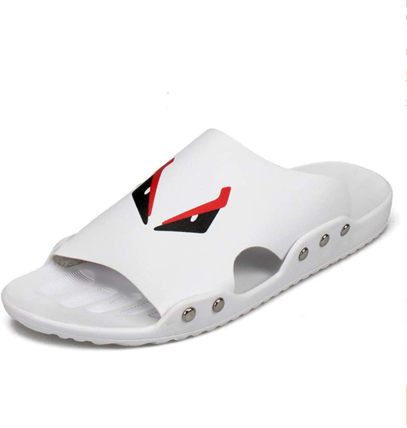Hysxm New Men Slippers Summer Breathable Slip-On Sandals Large Size Soft Light Design Waterproof Beach Slippers Fashion Casual shoes A2