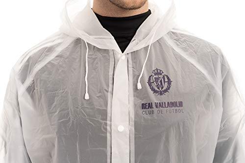 Real Valladolid voetbalclub transparante regenjas met wapen voor heren, standaardmaat