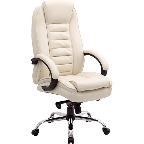 Office Furniture Online Chefsessel mit Lederfaserstoff-Bezug | Lucca | Creme