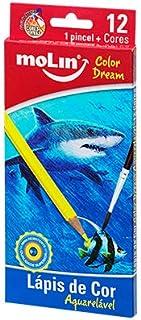 Lápis de Cor Color Dream, Blister com 12 Cores, Molin 13001M, Multicor