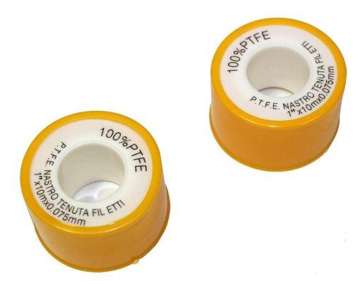 AERZETIX: Juego de 2 agua fontaneros teflon PTFE cinta de hilo sellador de fugas C1058