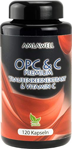 Amlawell OPC & C Premium / 120 Kapseln a 700mg / Zertifiziert ! / 4-Monats-Packung!