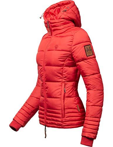 Marikoo Damen Winterjacke Stepp-Jacke Sole Rot Gr. XL