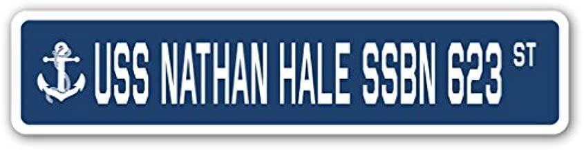 USS Nathan HALE SSBN 623 Street Sign us Navy Ship Veteran Sailor Gift