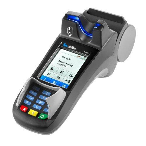 EC Kartenlesegerät, eccash Terminal Verifone H 5000, inklusive Farb Touch Display, NFC Kontaktlosleser, Drucker, Hybridkartenleser, Kommunikation: analog/ISDN/ LAN(DSL), Die neueste Generation der Zahlungsverkehrs-Systeme