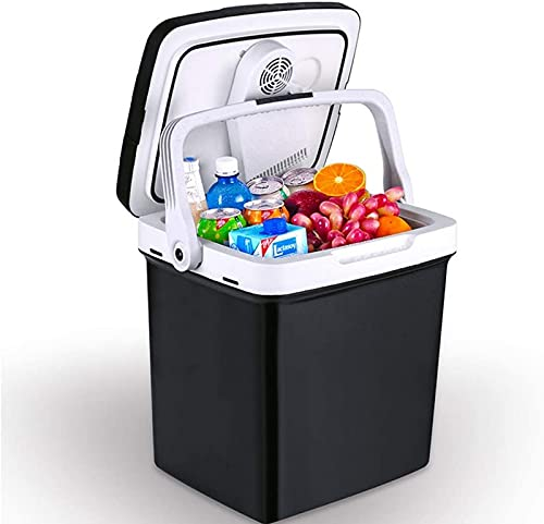 LZXH Refrigerador de Coche 26L Cooler Box Mini Refrigerador Congelador 12V 24V Refrigerador de congelador de Coche, Refrigerador de Coche portátil Nevera, Ideal para Camping, Viajes, Picnic, Play