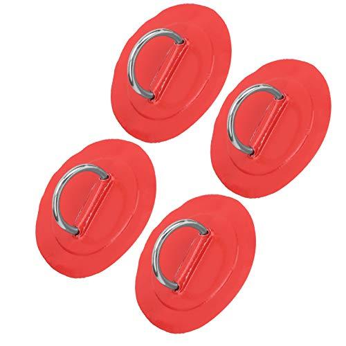 COHU Almohadilla de Anillo en D para Kayak, elástica, Resistente, Almohadilla de Anillo en D para Bote Inflable, Duradera para balsa de Bote Inflable de PVC, Bote Auxiliar,(Red Patch)