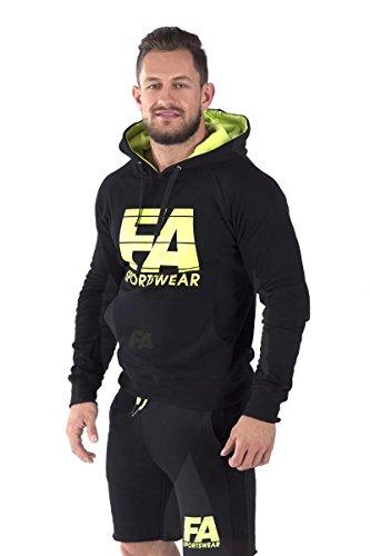 FA Sportswear Hoodie 01 Basic Black - L - Kaputzenpullover - Trainings Sweater