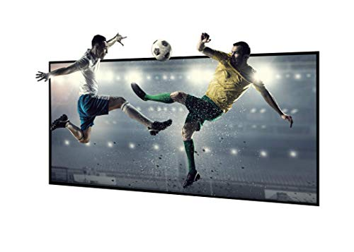 EluneVision Reference 8K 120 inch 16:9 Aspect Ratio Ultra Short Throw NanoEdge ALR Fixed-Frame Projection Screen.