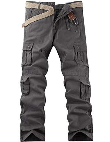 Pantalon Cargo Homme de Travail Randonnée Sport Militaire - Gris - Taille FR 44(Taille fabricant 34)
