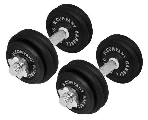 Bad Company 2er Set Kurzhanteln Gusseisen 30 kg (2 x 15 kg) I DREI Gewichtsstufen