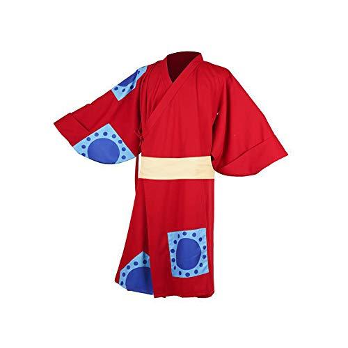 Crystally AFFE D. Ruffy Cosplay Kostüm Kimono Outfits für Halloween, Cosplay Anime