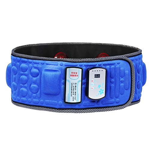 ErYao Electric Slimming Belt for Women Weight Loss, X5 Times Vibration Massage Weight Lose Belt Burning Fat Lose Weight Shake Belt Waist Trainer (Blue)