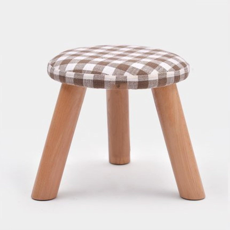 Jingbiao Coffee table table table stool fashion stool solid wood stool creative shoe stool fabric sofa stool  small stool (color   E) 6149a2