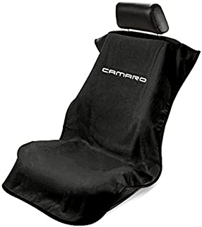 Seat Armour -Black Towel Seat Cover with New Camaro Logo -SA100NCAMB