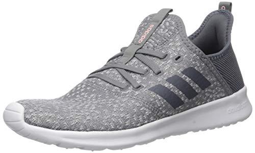 adidas Women's Cloudfoam Pure Running Shoe, Grey/Onix/White, 6.5 Medium US
