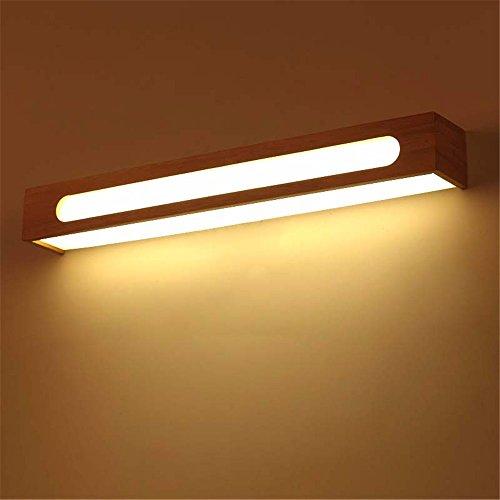 JJZHG Wandlamp, waterdichte wandverlichting, led-badkamerspiegel, schijnwerper, badkamerlamp, make-uptafel, spiegel, kast, wandlamp, hout, bevat: wandlamp, stoere wandlampen