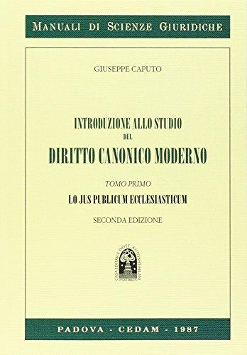 Introduzione diritto canonico 1: Vol. 1