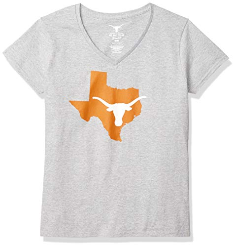NCAA Texas Longhorns Womens Longhorn State Tee, Athletic Gray, XX-Large