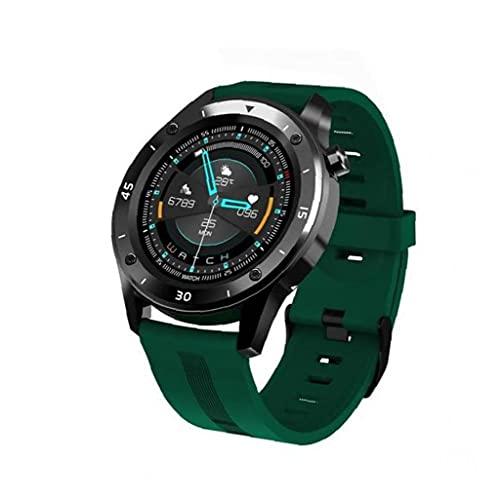 Hainice Reloj Inteligente a Prueba de Agua Tipo de corazón táctil Completo Pulsera de detección de la presión Arterial Verde