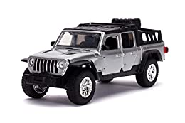 Authentically licensed product from the Fast & Furious Saga. As seen in Fast 9, Tej's 2020 Jeep Gladiator has been taken directly from the big screen and brought to you in a 1:32 scale die - cast model Crafted from durable materials such as 100% die ...
