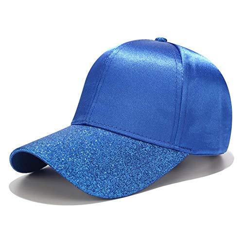 FBXYL paardenstaart-basisbalmuts-Vrouwen-glitter-rand afstandbediening-cap-dames-normale lak-satijn-vaati-hoed