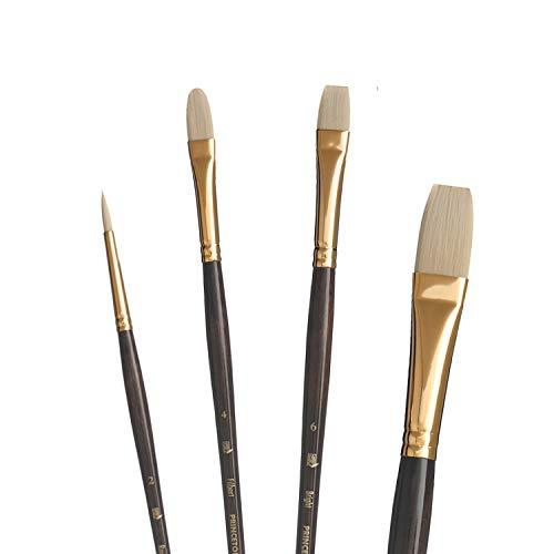 Princeton Dakota, Series 6300, Synthetic Hog Bristle All Purpose Paint Brush, Professional 4-Piece Set