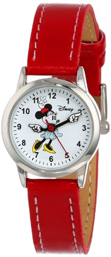 Disney Women's MN1023 Minnie Mouse White Dial Red Strap Watch
