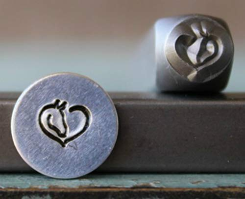 6mm Horse Heart Metal Punch Design Jewelry Stamp