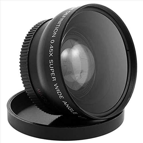 Impulsfoto - Objetivo Macro Gran Angular para Nikon D3200, D3100, D5200 y D5100 (52 mm, 0,45 aumentos), Color Negro