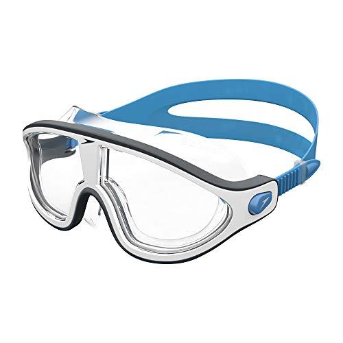 Speedo Erwachsene Biofuse Rift Mask Schwimmbrille, Bondi-Blau/Weiß/Transparent, One Size