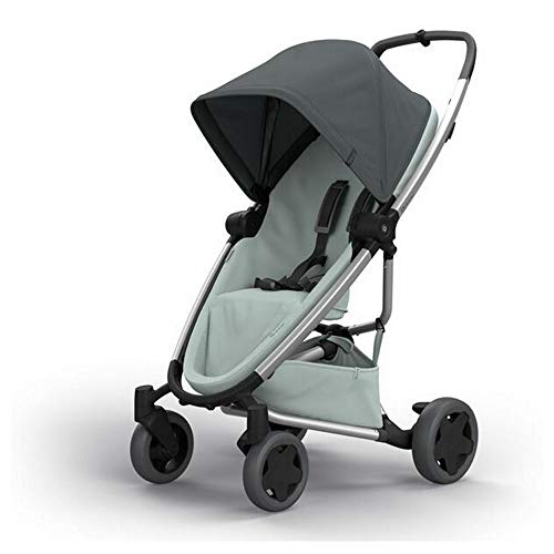 Quinny ZAPP FLEX PLUS 'Graphite on Grey' - Cochecito urbano, flexible y ultracompacto, asiento reclinable bidireccional, de 6 meses a 3.5 años, grafito y gris