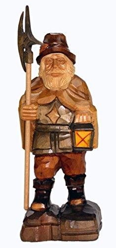 mumba Holzfigur Nachtwächter 27cm handgeschnitzt aus Lindenholz