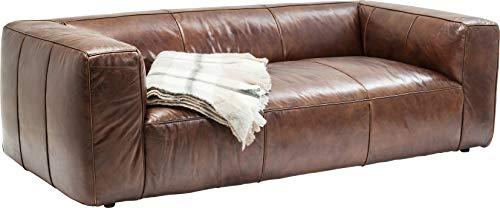 Kare Design Sofa Cubetto 2,5 Sitzer, Ledersofa Braun, Loungesofa Echtleder, Vintage Look, (B/H/T) 2,2x0,67x1,1m