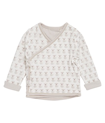 SENSE ORGANICS Wanda Wende-Wickeljacke GOTS-Zertifiziert Cardigan, Multicolore (Grey Stripes + Puppy Apple) 991000, 68 cm Bébé garçon