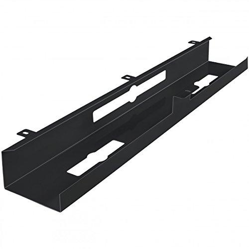 FineBuy Kabelkanal Schreibtisch 80x7x13 cm breit Untertisch Kabelführung Metall | Kabelmanagement Kabelwanne Pulverbeschichtet | Kabelschacht waagrecht
