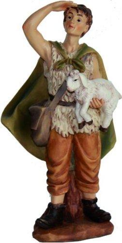 Hirte mit Schaf auf Arm, geeignet für 9cm Figuren