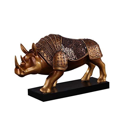 YMJ- Ornements de rhinocéros d'armure de résine, décorations de table de style européen, petits ornements de décoration de bureau de salon
